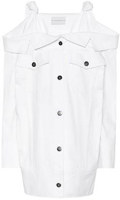 Matthew Adams Dolan Off-the-shoulder denim dress