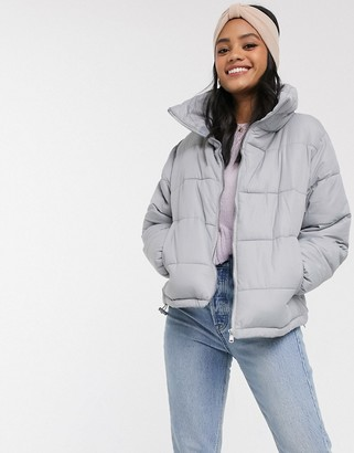 Brave Soul slate padded coat