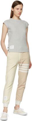 Thom Browne Off-White & Beige Funmix 4-Bar Lounge Pants