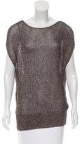 Reed Krakoff Metallic Open Knit Sweater