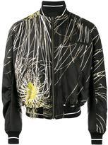 Haider Ackermann embroidered bomber jacket - men - Polyester/Silk/Cotton/Rayon - XS