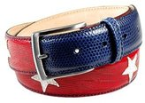 Manieri Stars and Stripes Patchwork Leather Belt