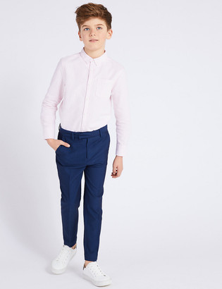 Marks and Spencer Blue Suit Trousers (3-16 Years)