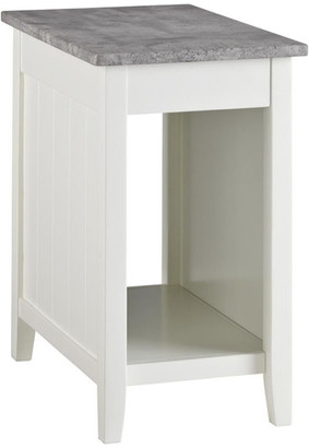 Ashley Furniture Industries Diamenton Contemporary Chair Side End Table, White