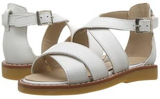 Elephantito Cecil Crossed Sandal (Toddler/Little Kid/Big Kid) (White) Girls Shoes