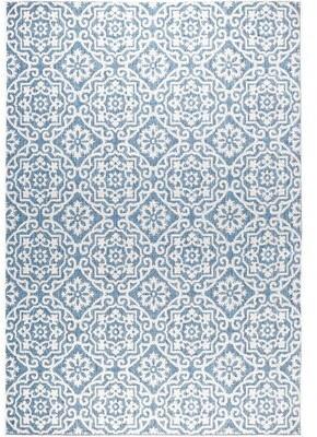 Nicole Miller Tiled Power Loom Blue/Gray Rug Rug Size: Rectangle 9' x 12'