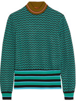 green and yellow striped sweater - ShopStyle
