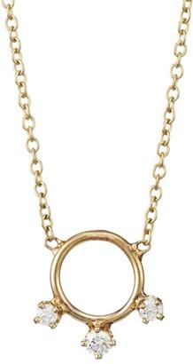 Zoë Chicco 14K Yellow Gold & Diamond Circle Pendant Necklace