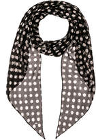 Saint Laurent Silk Polka Dot Scarf