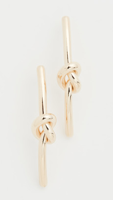Kenneth Jay Lane Gold Knot Drop Earrings