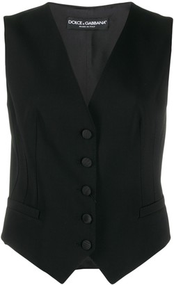 Dolce & Gabbana Fitted Single-Breasted Gilet