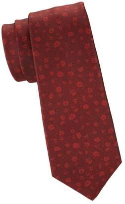 Kiton Tonal Floral Silk Tie