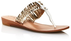 Jack Rogers Jack Rodgers Women's Tinsley Demi Wedge Woven Thong Sandals