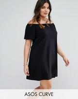 Asos Boho Off Shoulder Dress