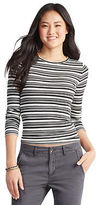 Aeropostale Womens Prince & Fox Striped Layering Tee Shirt Ivory
