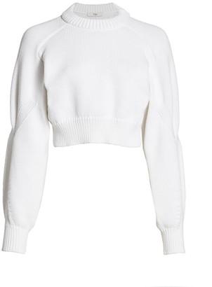 Tibi Tube Yarn Open-Back Sweater