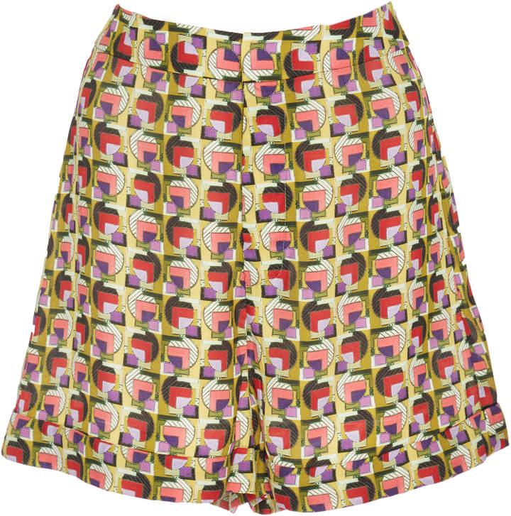 Aniqa Geo-Print Mini Shorts