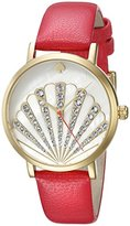 Kate Spade Women's 1YRU0760 Metro Gold-Tone Watch with Red Leather Band