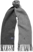 Polo Ralph Lauren Reversible Virgin Wool-blend Scarf - Gray
