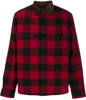 Rag & Bone contrast collar check shirt