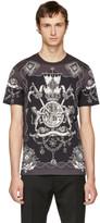 Dolce & Gabbana Grey & Black Crest T-Shirt
