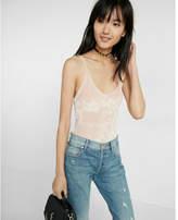 Express Velvet Thong Bodysuit