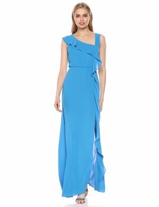 BCBGMAXAZRIA Azria Women's Asymmetric Neck Maxi Dress