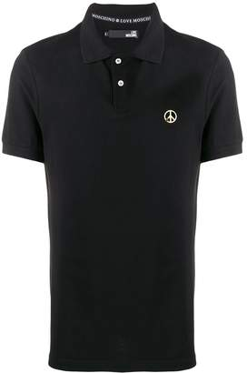 Love Moschino logo plaque polo shirt