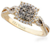 LeVian Chocolatier 14K Honey Gold Vanilla and Chocolate Diamond Ring