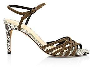 Alexandre Birman Women's Berthe Python & Leather Sandals