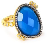 Freida Rothman Blue Agate Cocktail Ring