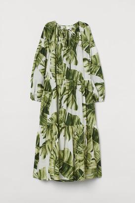 H&M Balloon-sleeved Cotton Dress