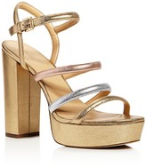 MICHAEL Michael Kors Nantucket Metallic Platform High Heel Sandals