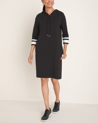 Zenergy Hooded Colorblock-Sleeve Dress
