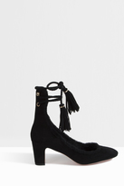 Rochas Shearling Wrap Up Heels