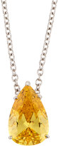 FANTASIA Pear-Cut Canary CZ Pedant Necklace