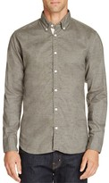 Billy Reid Brushed Twill Slim Fit Button Front Shirt