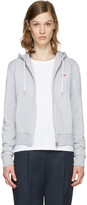 MAISON KITSUNÉ Grey Fox Patch Zip-up Hoodie