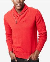 Sean John Men's Zip Shawl Collar Sweater