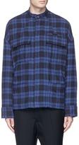 Haider Ackermann Check plaid padded flannel shirt jacket