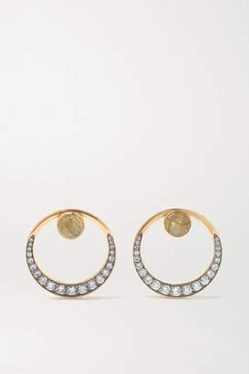 Noor Fares Svadhisthana 18-karat Gray Gold, Labradorite, Diamond And Enamel Earrings - one size