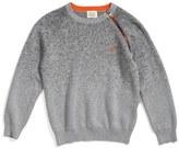Armani Junior Zip Crewneck Sweater (Little Boys & Big Boys)