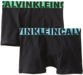 Calvin Klein Boy's 2 Pack Jacquard Elastic Trunks
