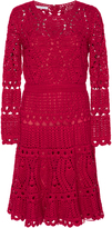 Oscar de la Renta Long Sleeve Crochet Dress
