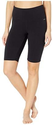 Jockey Active 10 High-Waist Sculpting Bike Shorts (Black) Women's Shorts