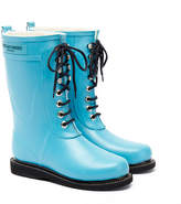 Ilse Jacobsen Rub15 Pacific Blue Mid Lace Wellington Boots