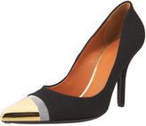 Metallic-Capped Toe Pump