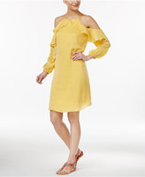Thalia Sodi Cold-Shoulder Halter Dress, Only at Macy's
