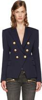 Balmain Navy Classic Six-Button Blazer