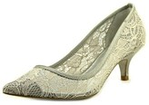 Adrianna Papell Lois Pointed Toe Canvas Heels.